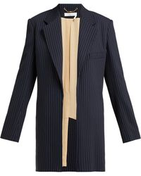 aa992b48e2 Tennis Single Breasted Pinstriped Crepe Jacket - Blue