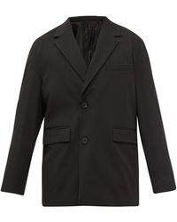WOOYOUNGMI オーバーサイズ シングルジャケット - ブラック