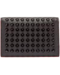 Christian Louboutin Spike-embellished Grained-leather Cardholder - Multicolor