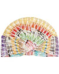 Missoni Zigzag Crochet Knit Turban Hat - Multicolour