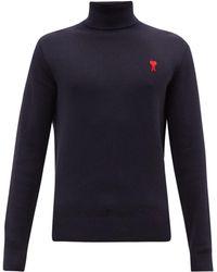 AMI De Coeur メリノウールセーター - ブルー