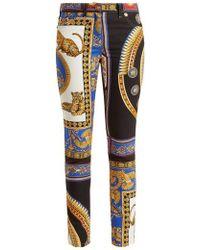 Versace - Lovers Baroque-printed Skinny Jeans - Lyst