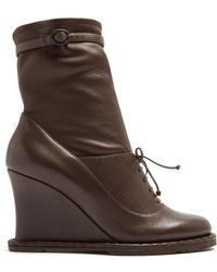 Bottega Veneta - Intrecciato-panel Leather Ankle Boots - Lyst