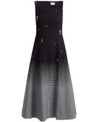 Erdem - Polly Crystal Embellished Cotton Blend Dress - Lyst