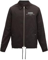 Amiri Logo-print Shell Jacket - Black
