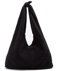 The Row - Bindle Ribbed-knit Shoulder Bag - Lyst