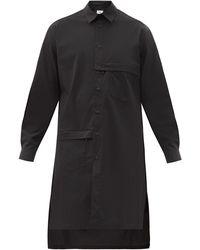 Y-3 Elongated Cotton-blend Shirt - Black