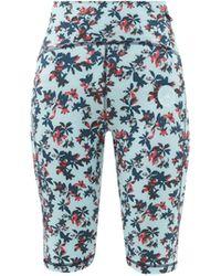 adidas By Stella McCartney Truepurpose Floral-print Cycling Shorts - Blue