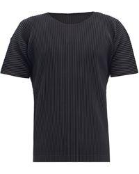 Homme Plissé Issey Miyake Homme Plissé Issey Miyake Tシャツ - ブラック