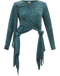 Loewe ノットヘム スパンコールセーター - ブルー