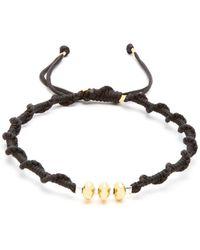 Black Dakini - Gold Vermeil And Cord Bracelet - Lyst