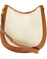 Isabel Marant Moskan Raffia And Leather Shoulder Bag - Multicolour