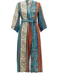 Chufy Alqamar Printed Robe - Blue