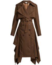 Chloé - Wool Gabardine Trench Coat - Lyst