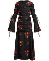 Ellery Above Board Ruched Maxi Dress - Black