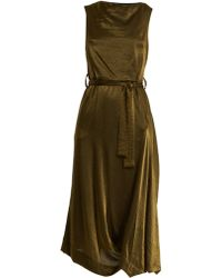 Vivienne Westwood Anglomania - Vasari Tie-waist Asymmetric Crepe Dress - Lyst