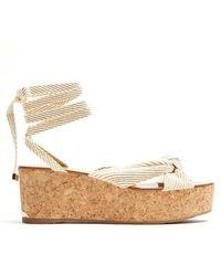 Jimmy Choo - Norah Rope Flatform Sandals - Lyst