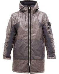 Stone Island Shadow Project Dual-grid Raincoat - Gray