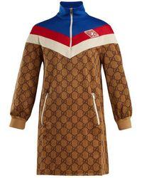 Gucci - Gg-print Technical-jersey Dress - Lyst