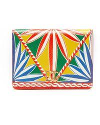 Dolce & Gabbana フリゴ レザーウォレット - イエロー