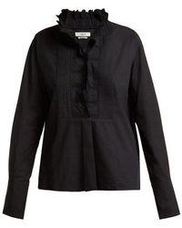 Étoile Isabel Marant - Mora Embroidered Cotton Shirt - Lyst