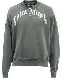Palm Angels コットン スウェットシャツ - ブラック