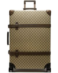 Gucci X Globe Trotter 30 Gg Canvas Suitcase - Brown