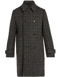Stella McCartney - Houndstooth Wool-blend Coat - Lyst