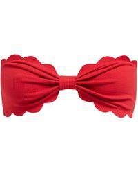 Marysia Swim Antibes Scallop-edged Bandeau Bikini Top - Red