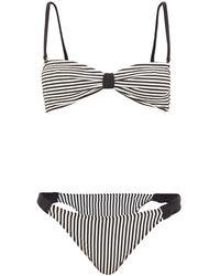 Leslie Amon Thea Striped Bikini - Black
