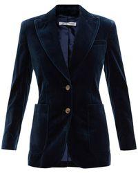 Bella Freud セント ジェームス ベルベットジャケット - ブルー