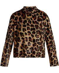 Ashish - Leopard-print Sequined Top - Lyst