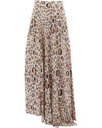 Aje. Elvie Leopard Print Maxi Skirt - Multicolour