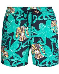 Vilebrequin - Moorea Octopussy And Coquilages Print Swim Shorts - Lyst
