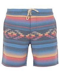 Faherty Brand - Geometric Striped-print Shorts - Lyst