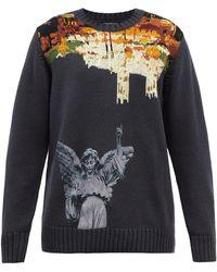 Undercover スタチュープリント ウールセーター - グレー