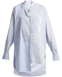 Loewe   Striped Asymmetric-hem Cotton Shirt   Lyst