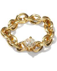 Lizzie Mandler - ナイフエッジ ダイヤモンド 18kゴールドチェーンリング - Lyst