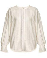 Chloé - Diamond-lace Trimmed Cotton Top - Lyst