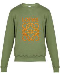 Loewe - Anagram Cotton Jersey Sweatshirt - Lyst