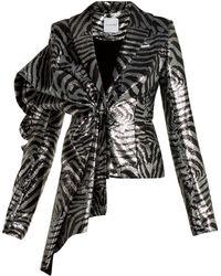 Halpern Zebra Stripe Sequined Jacket - Multicolour