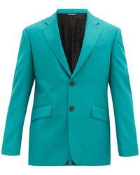 Givenchy ウールツイル シングルジャケット - ブルー