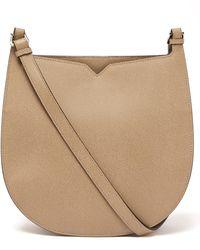 Valextra Hobo Weekend Grained-leather Shoulder Bag - Natural