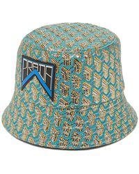 Prada - Geometric Jacquard Logo Patch Bucket Hat - Lyst