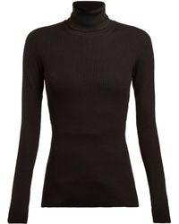 Dolce & Gabbana - Pull col roulé en maille côtelée de laine vierge - Lyst