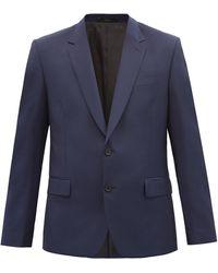 Paul Smith ウールモヘア シングルスーツジャケット - ブルー