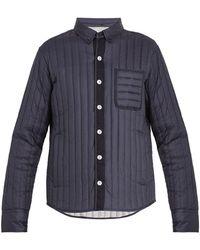 Moncler Gamme Bleu Mylon Patch-pocket Quilted Down Jacket - Blue
