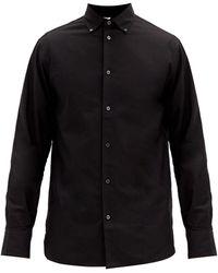 The Row ロバート コットンオックスフォードシャツ - ブラック