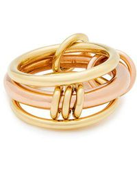 Spinelli Kilcollin - Gemini 18kt Gold And Rose-gold Ring - Lyst