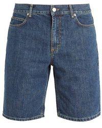JW Anderson Long Cotton-denim Shorts - Blue